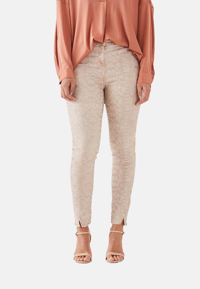 MIT ANIMALIER-DRUCK - Jeans Skinny Fit - pink