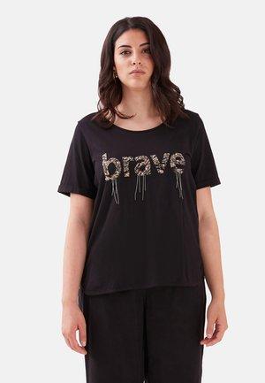 CON SCRITTA - T-shirt con stampa - nero