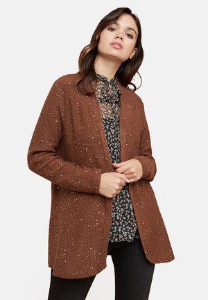 MIT PAILLETTEN - Cardigan - brown