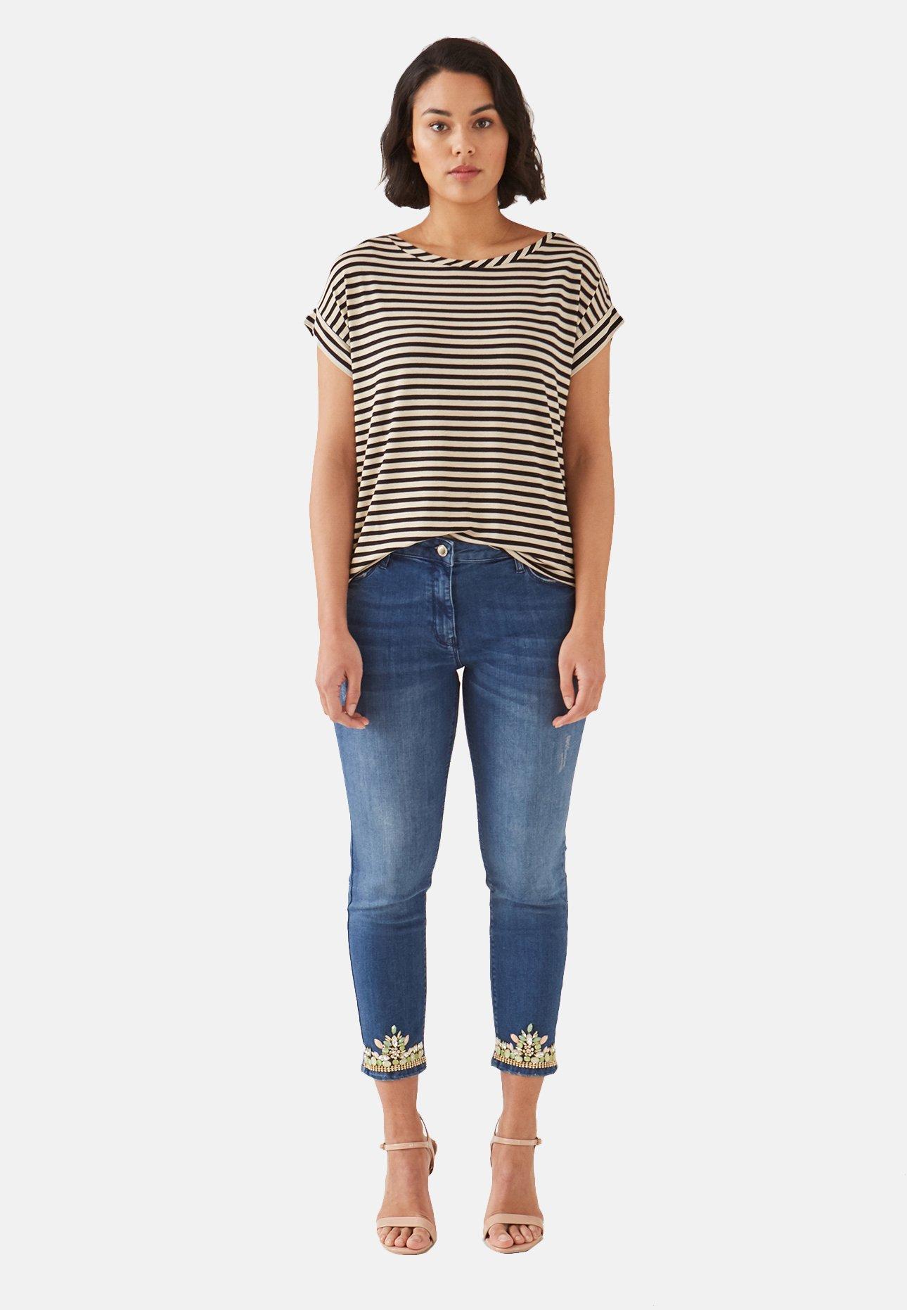 Fiorella Rubino CON RICAMO AL FONDO - Jeans Skinny Fit - blue