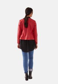 Fiorella Rubino - Faux leather jacket - red - 1