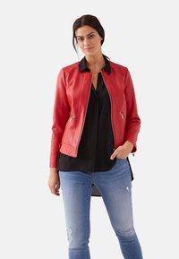 Fiorella Rubino - Faux leather jacket - red - 2