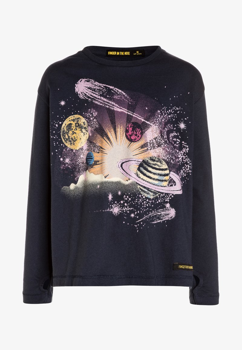 Finger in the nose - SHINE PLANETS - Long sleeved top - night blue