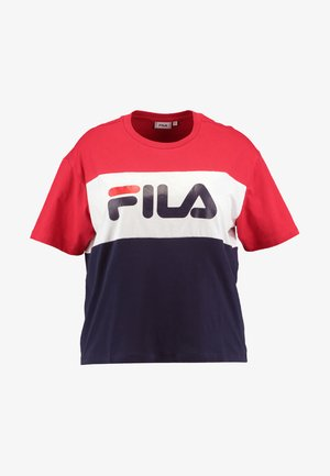 ALLISON TEE - T-shirt imprimé - black iris/true red/bright white