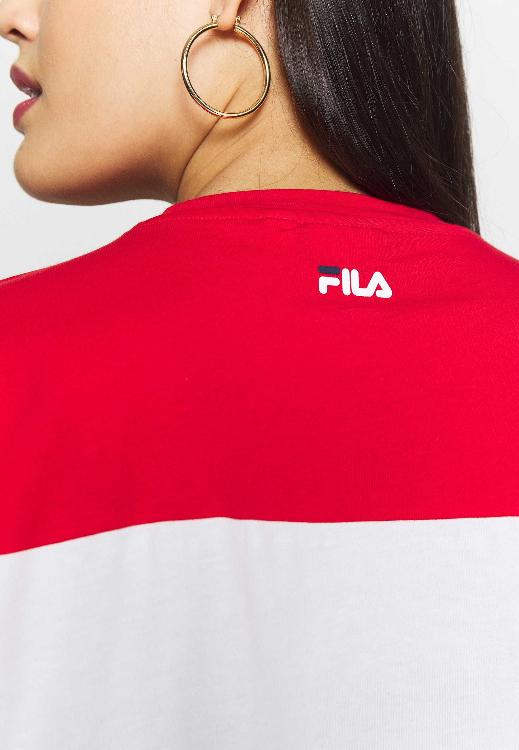 Fila Plus ALLISON TEE - T-shirt z nadrukiem - black iris/bright white/true red