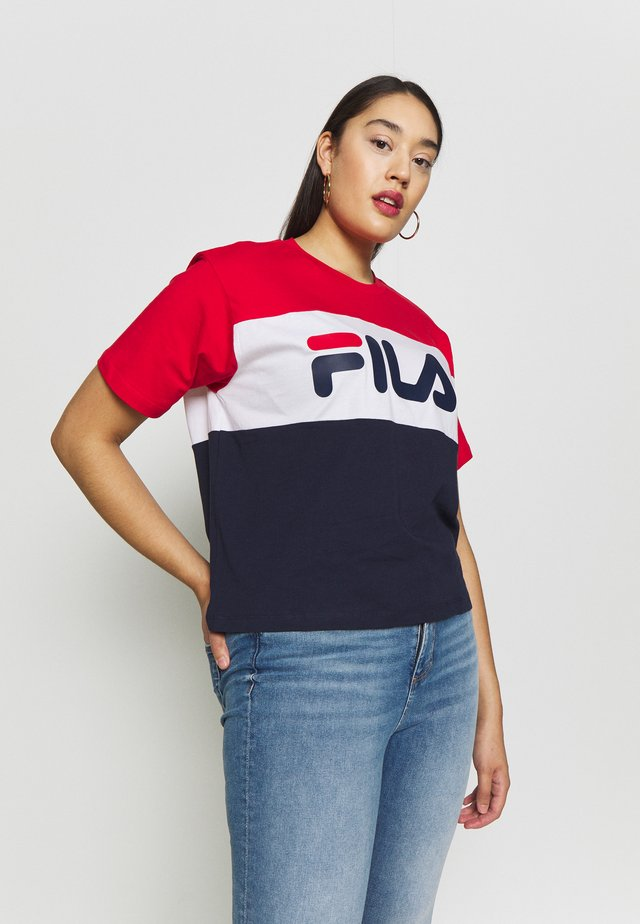 ALLISON TEE - T-shirt print - black iris/bright white/true red