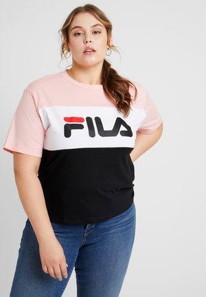ALLISON TEE - Camiseta estampada - black quarz/pink/bright white