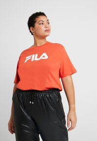 Fila Plus - PURE SHORT SLEEVE - Camiseta estampada - orange - 0