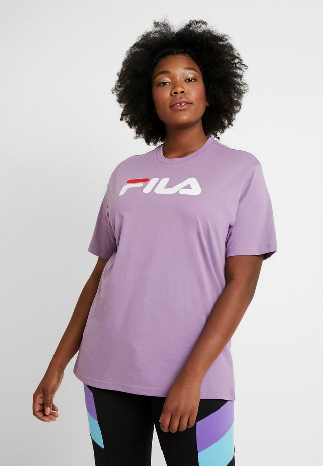 PURE SHORT SLEEVE - Print T-shirt - orchid mist