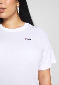 Fila Plus - EARA TEE - T-shirt basic - bright white - 5