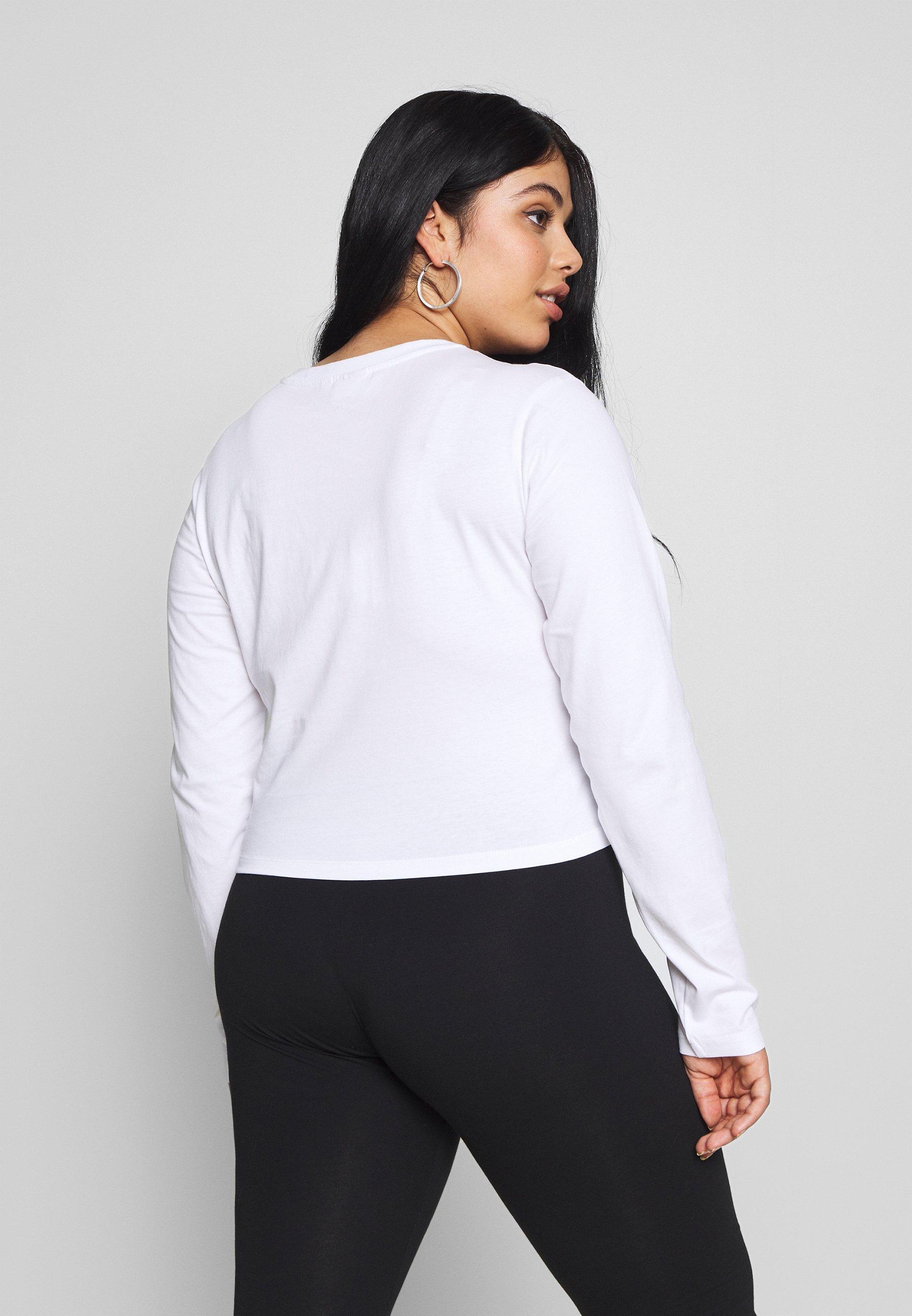 Fila Plus EAVEN CROPPED LONG SLEEVE - Topper langermet - bright white