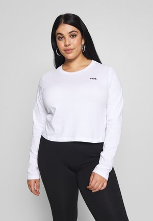 EAVEN CROPPED LONG SLEEVE - Maglietta a manica lunga - bright white