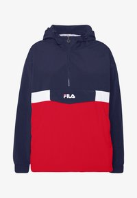 Fila Plus - PAVLINA WING JACKET - Windjack - black iris/bright white/true red - 5
