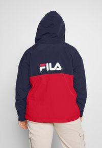 Fila Plus - PAVLINA WING JACKET - Windjack - black iris/bright white/true red - 3