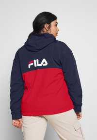 Fila Plus - PAVLINA WING JACKET - Windjack - black iris/bright white/true red - 2
