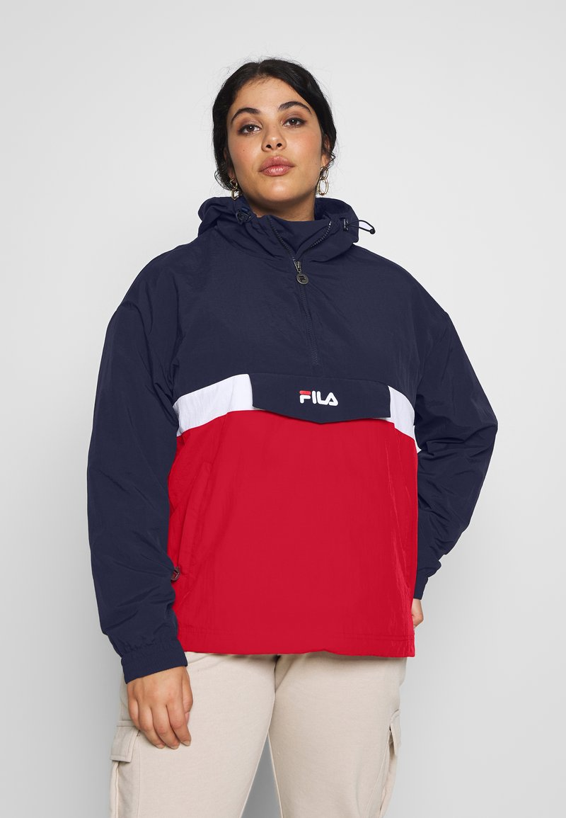 Fila Plus - PAVLINA WING JACKET - Windjack - black iris/bright white/true red