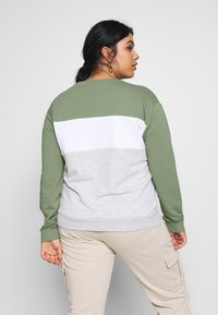 Fila Plus - LEAH CREW - Sweatshirt - sea spray/light grey melange/bright white - 2