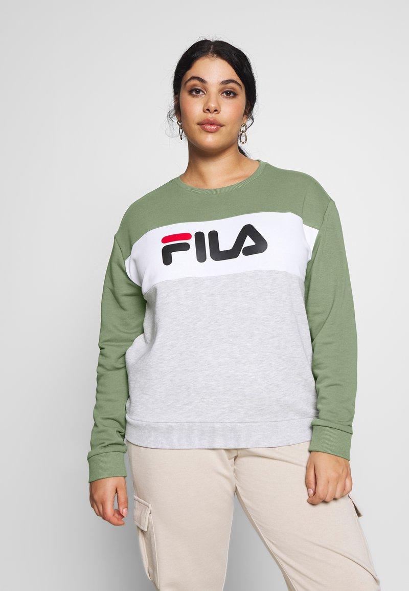 Fila Plus - LEAH CREW - Sweatshirt - sea spray/light grey melange/bright white
