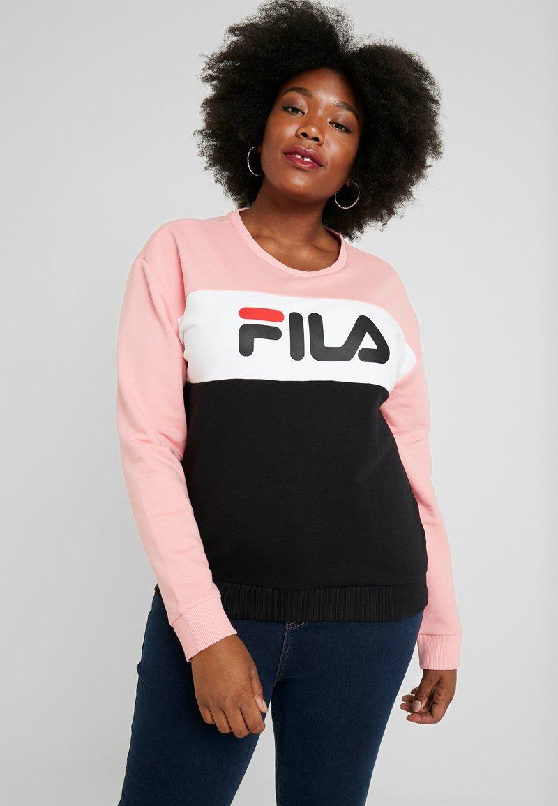 Fila Plus - LEAH CREW - Felpa - black/quarz pink/bright white