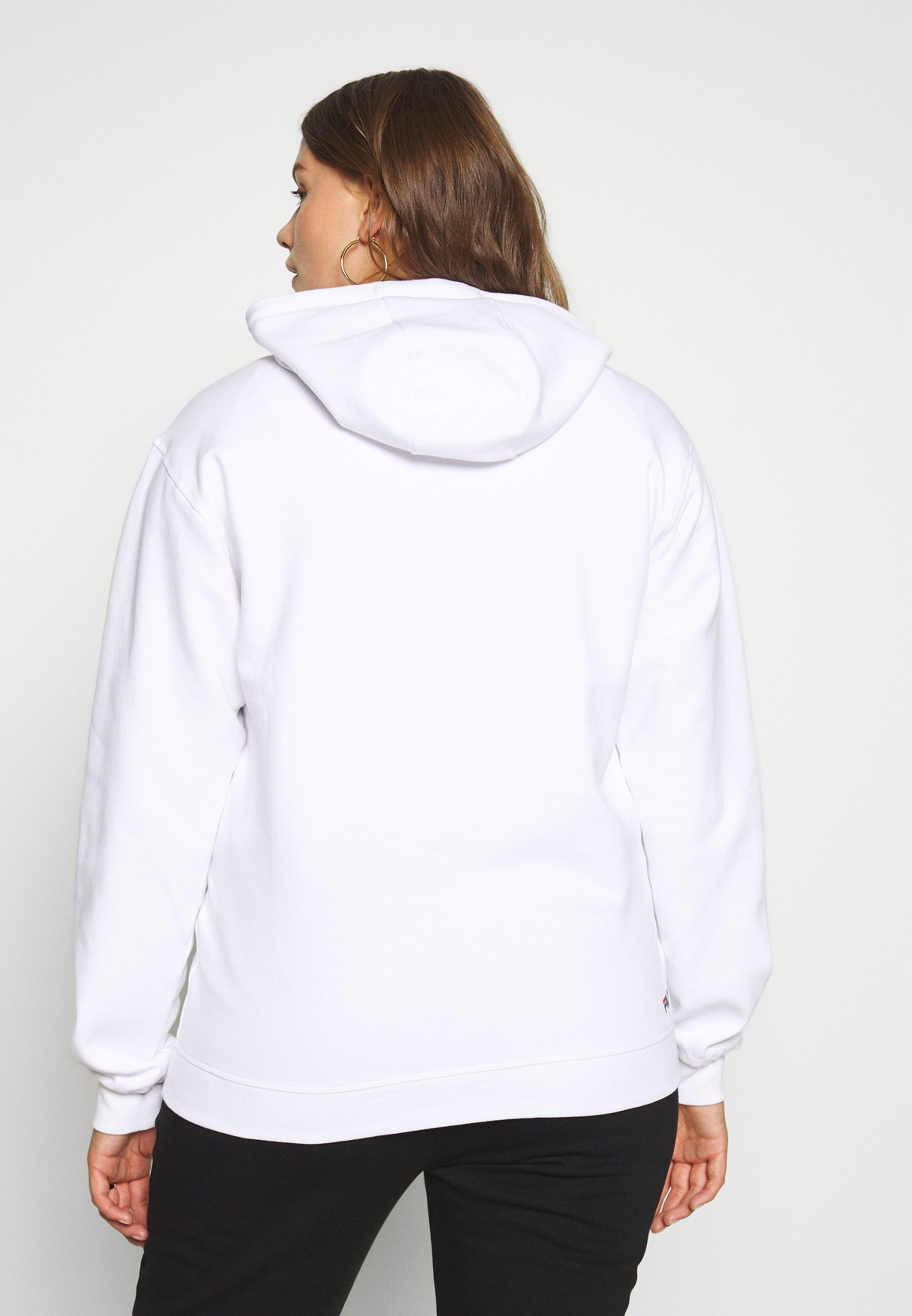 Fila Plus PURE HOODY - Bluza z kapturem - bright white