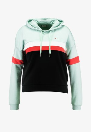 ELLA HOODY - Huppari - mist green/black/bright white/true red