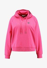 Fila Plus - FLORESHA HOODY - Jersey con capucha - pink yarrow - 4