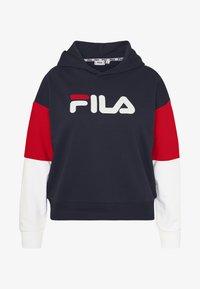 Fila Plus - BARRET CROPPED HOODY - Hoodie - black iris/bright white/true red - 4
