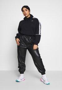 Fila Plus - TAVORA HOODY - Hoodie - black/bright white - 1