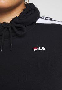 Fila Plus - TAVORA HOODY - Hoodie - black/bright white - 6