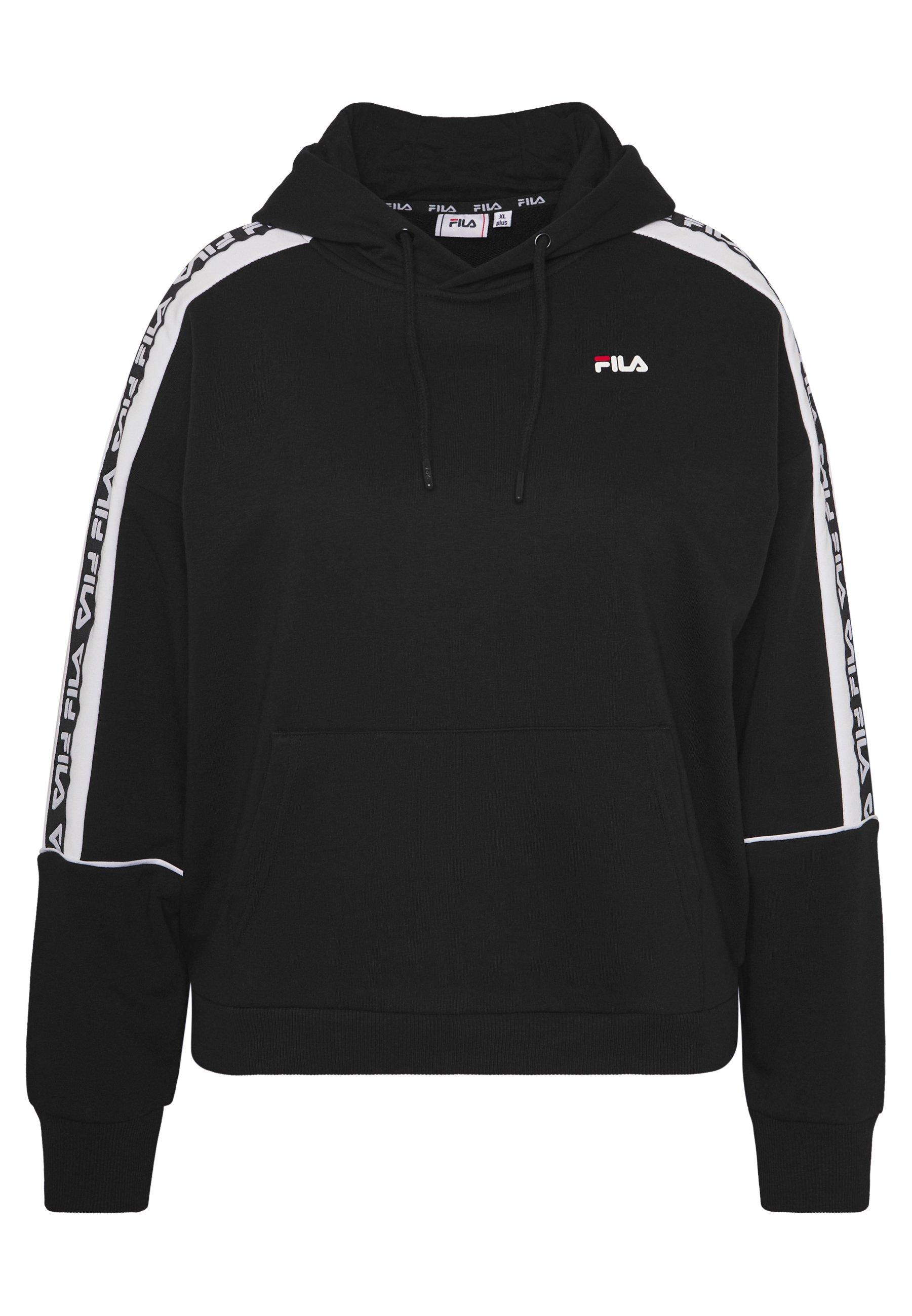 Fila Plus TAVORA HOODY - Bluza z kapturem - black/bright white