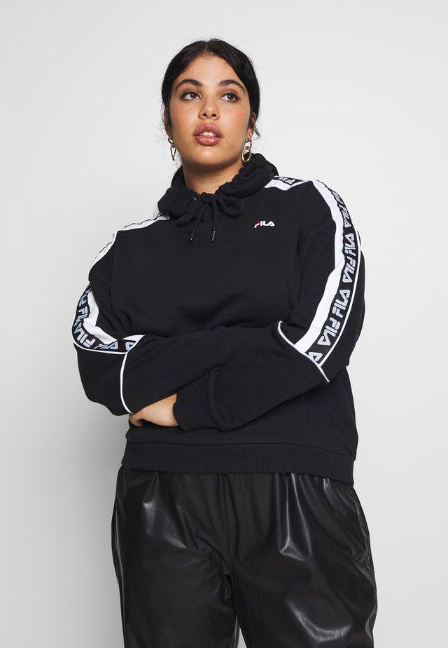TAVORA HOODY - Sweat à capuche - black/bright white