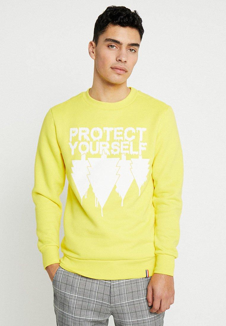 French Kick - PROTECT YOURSELF - Sweatshirt - aussie yellow
