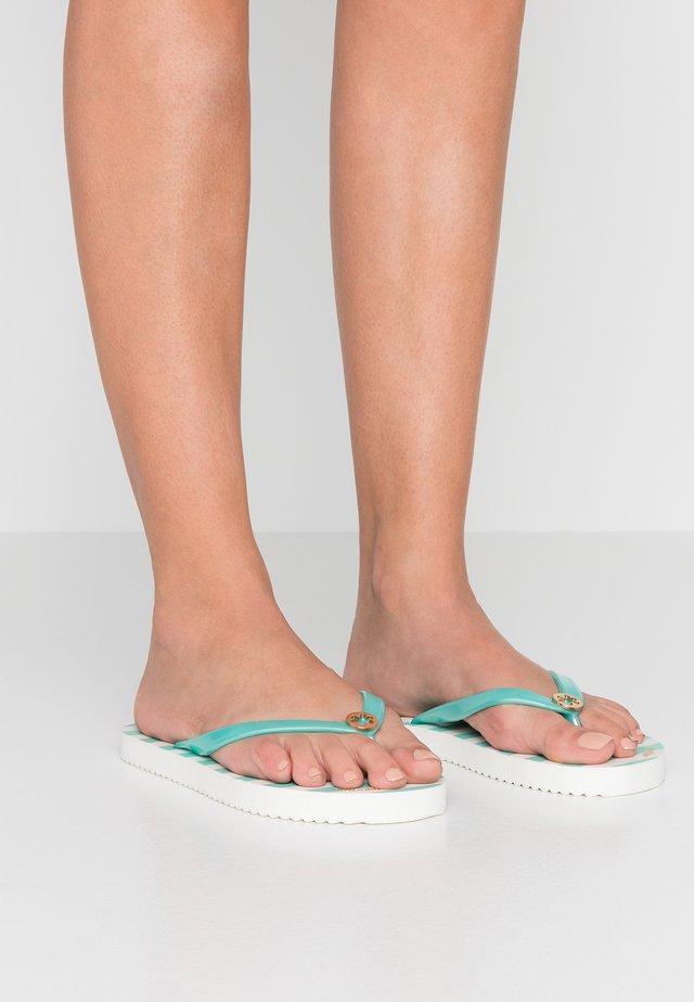 GOLDFLOWER STRIPE - Pool shoes - light turquoise