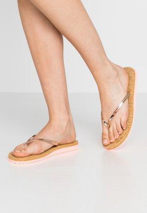 NOBLE CORGI - T-bar sandals - neon peach/copper