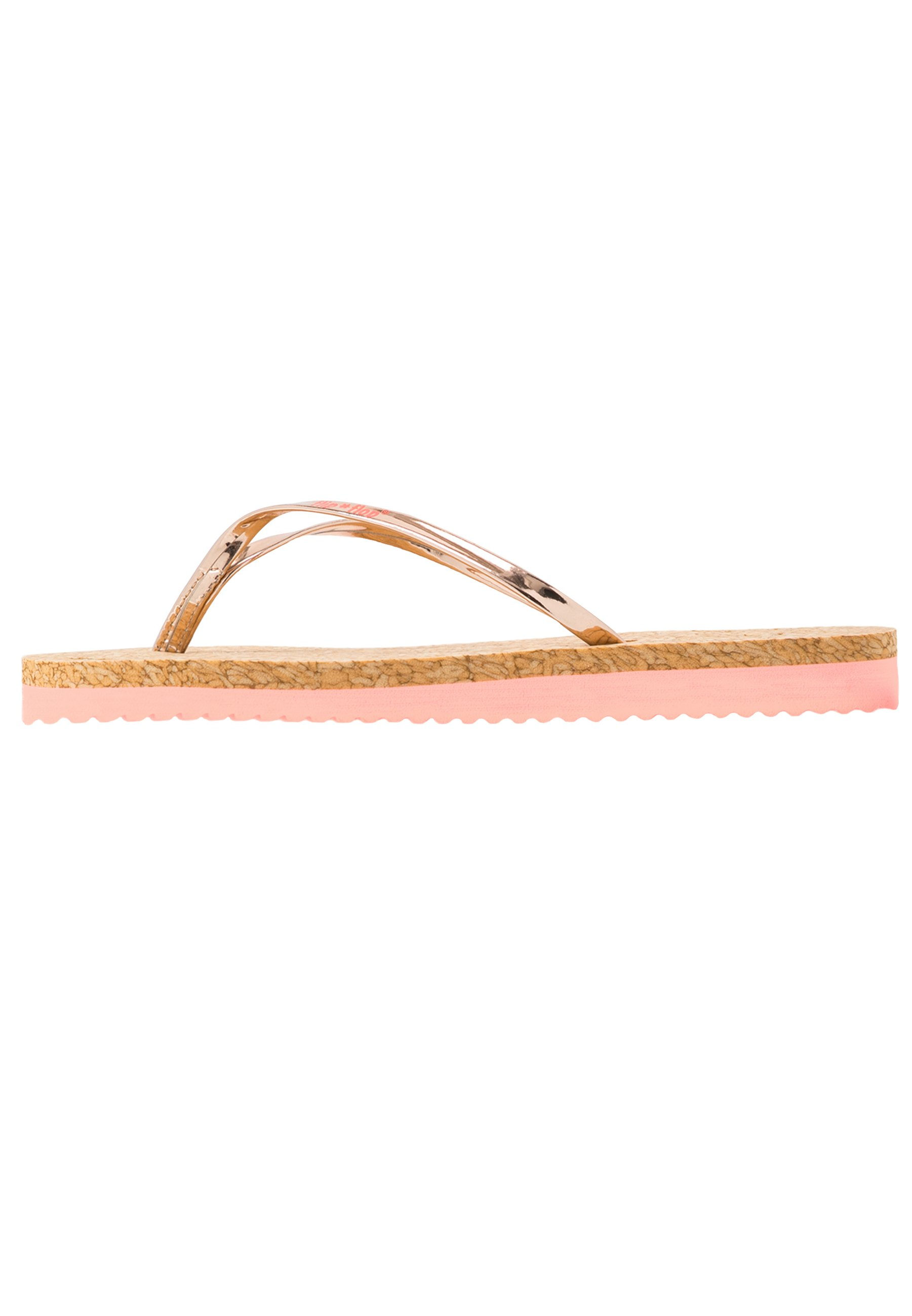 flip*flop NOBLE CORGI - Sandaler m/ tåsplit - neon peach/copper