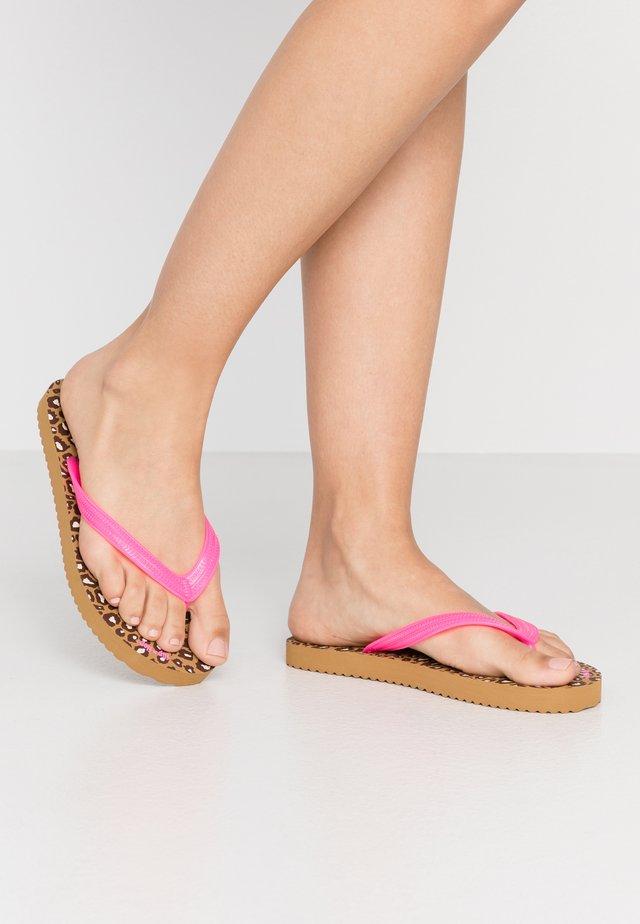 ORIGINALS  - Pool shoes - malt/neon pink