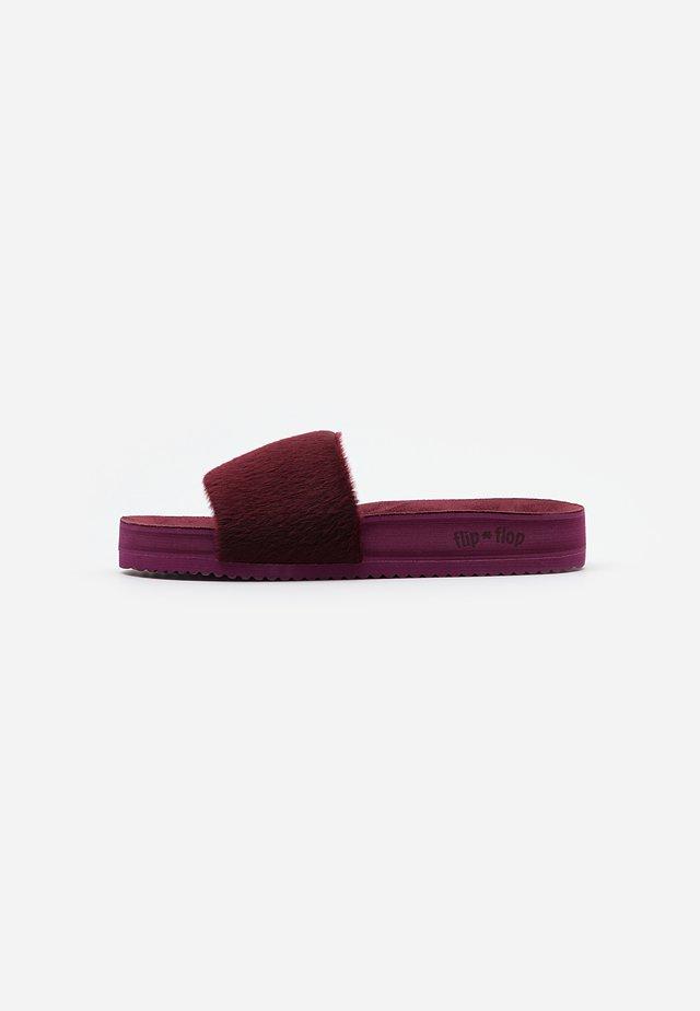 POOL - Slippers - dark berry