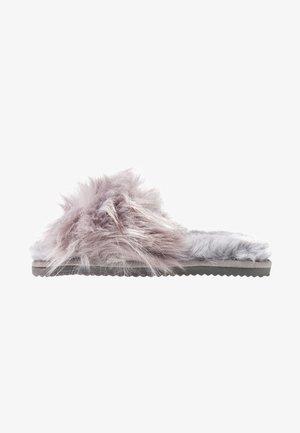 HAIRY POOL - Pantofole - steel