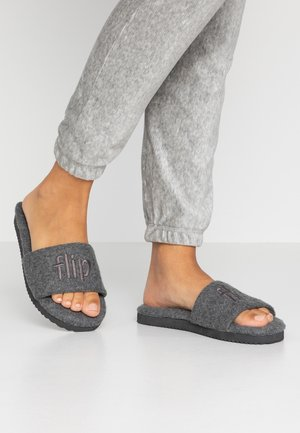 POOLY LOGO - Slippers - light grey