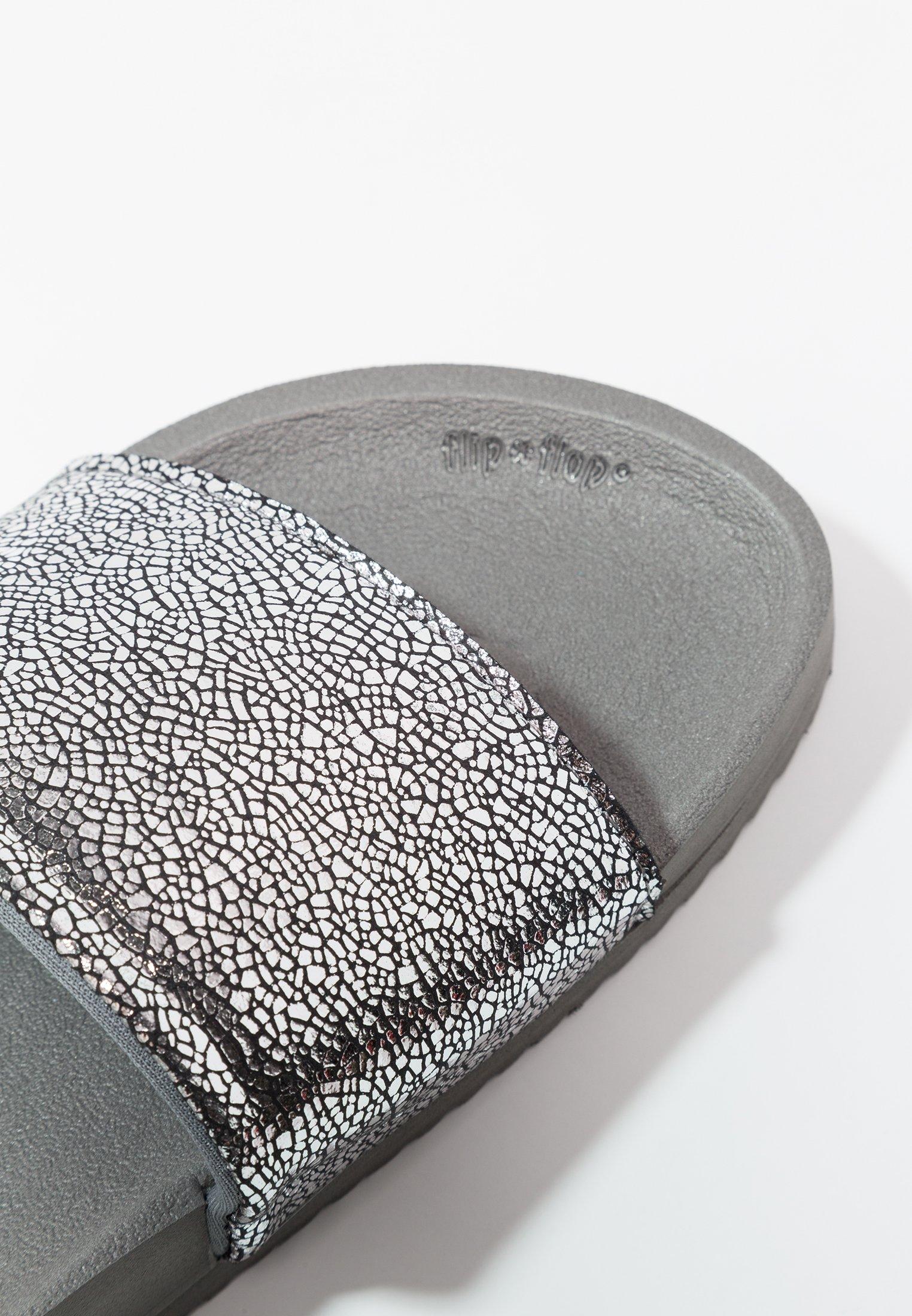 flip*flop POOL METALLIC CRACKED - Mules - steel