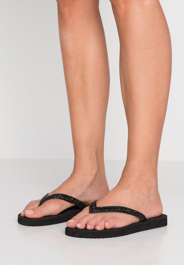 GLAM  - T-bar sandals - black