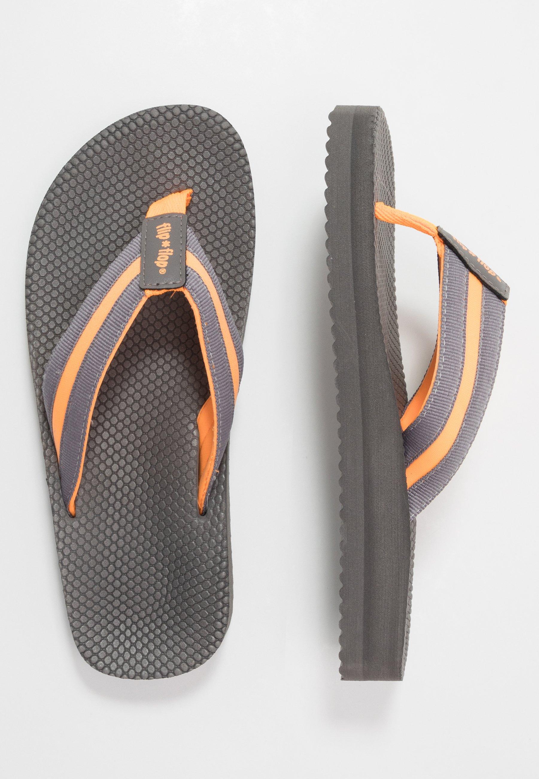 flip*flop TEX COMFY - tåsandaler - steel/neon orange