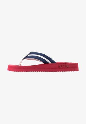 TEX COMFY - T-bar sandals - tango red/deep night