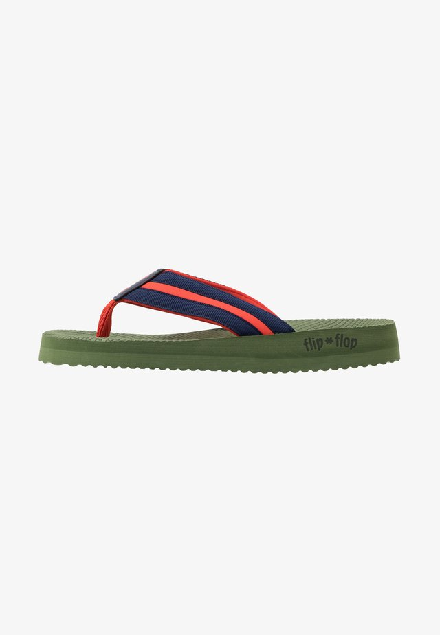 TEX COMFY - T-bar sandals - olive/deep night