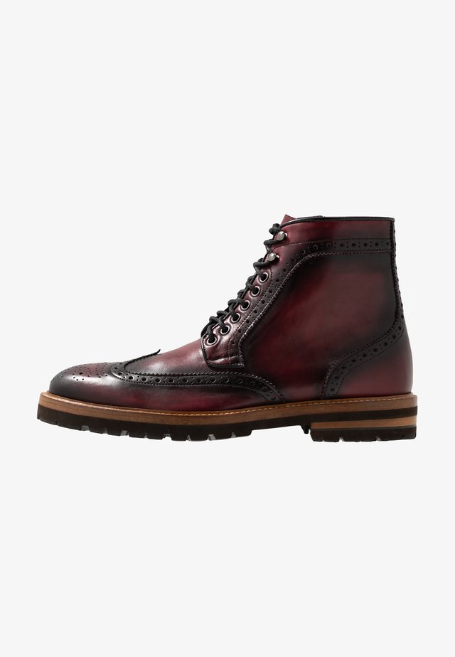 RICHARDS - Lace-up ankle boots - wine
