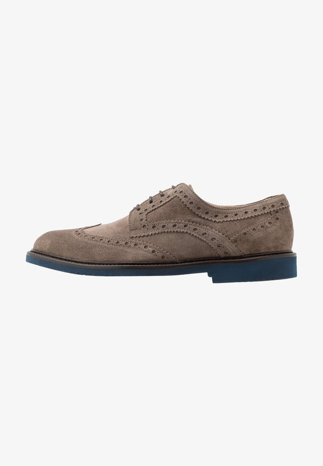 MORGAN - Lace-ups - taupe/blue