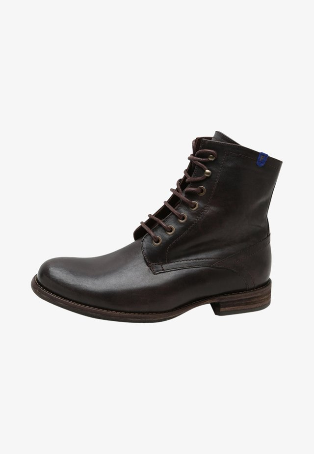 FERRRI - Lace-up ankle boots - black calf