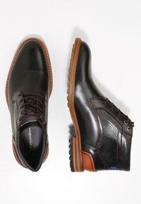 Floris van Bommel - CREPI CUP - Šněrovací kotníkové boty - black/cognac - 1