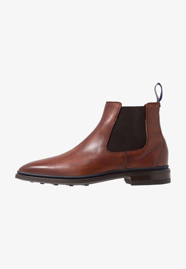 BUMPI - Kotníkové boty - dark cognac