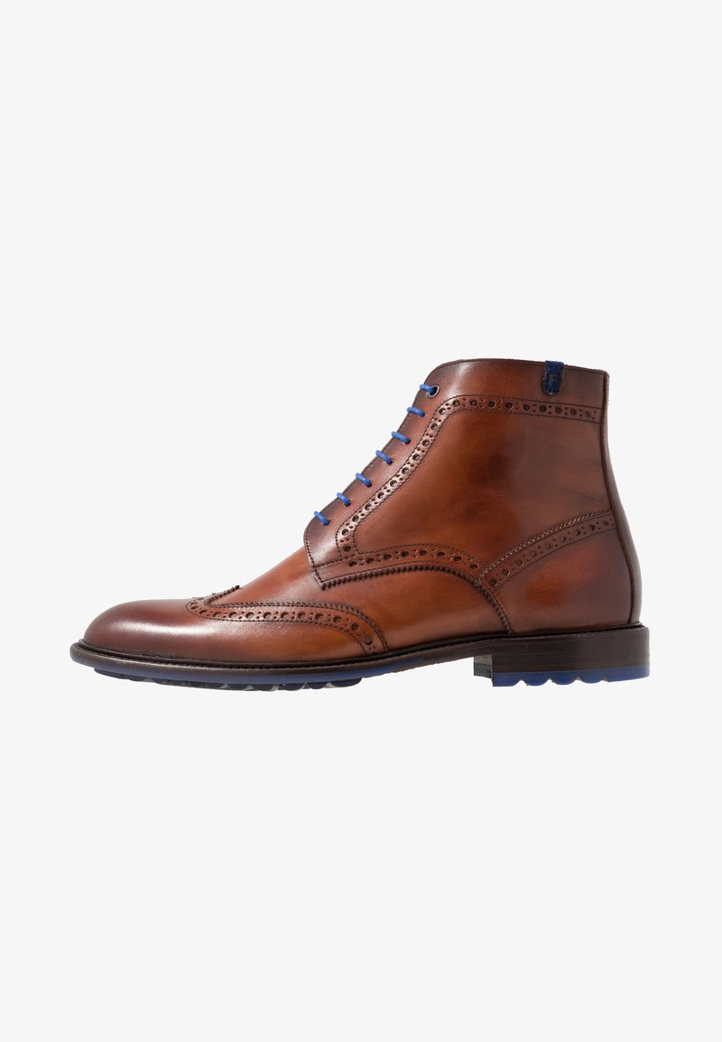 Floris van Bommel - SERI - Lace-up ankle boots - dark cognac